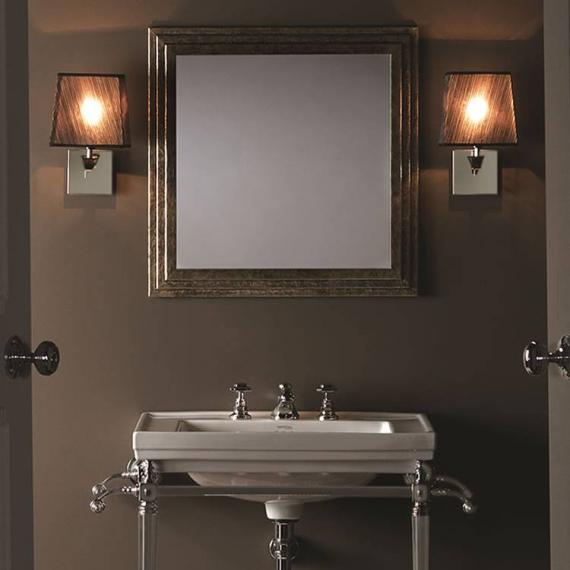 Our Imperial Astoria Wall Light With Fabric Shade is an excellent soft mood  lighting option for traditional Victorian bathrooms. bathroom lighting ideas