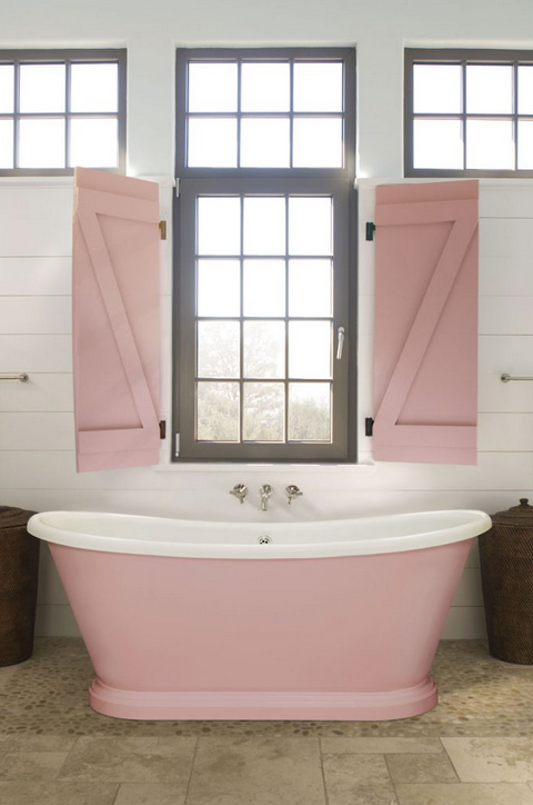 How to achieve a painted bathroom
