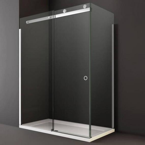 Merlyn 10 Series Sliding Shower Door With Optional Side Panel