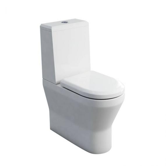 Britton Tall Close Coupled Back To Wall WC, Angled Cistern & Soft Close Seat