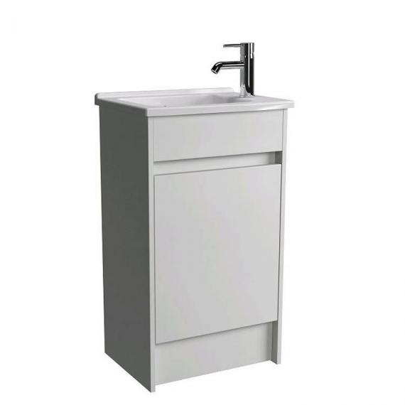 Vitra S50 500mm Gloss White Floor Standing Vanity Unit & Basin