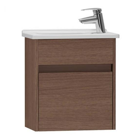 Vitra S50 450mm Oak Compact Single Door Vanity Unit & Basin