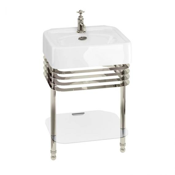Arcade 600mm Basin With Nickel Wash Stand