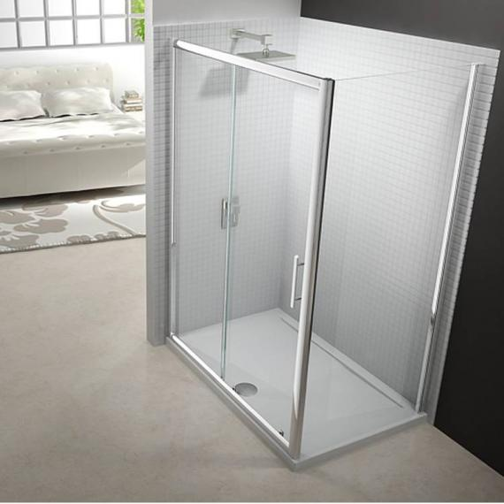 Merlyn 6 Series Sliding Shower Door With Side Panel