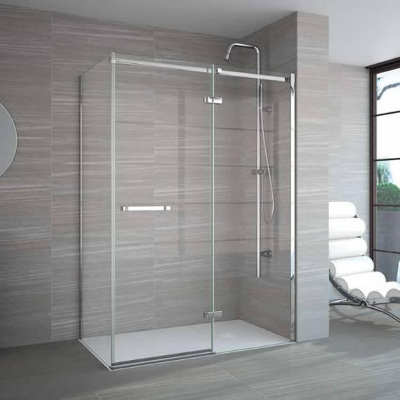 Merlyn 8 Series Frameless Hinge & Inline Shower Door With Optional Side Panel