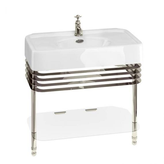 Arcade 900mm Basin With Nickel Wash Stand - 1 Tap Hole
