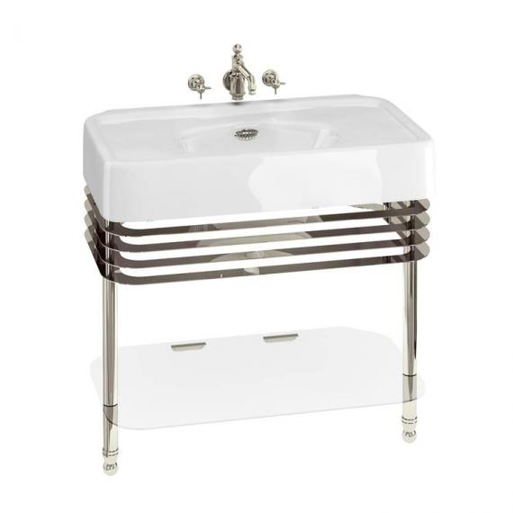 Arcade 900mm Basin With Nickel Wash Stand - 0 Tap Holes