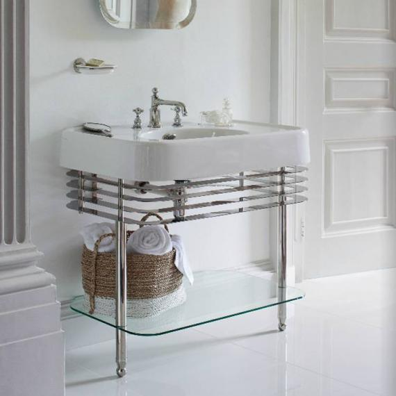 Arcade 900mm Basin With Nickel Wash Stand