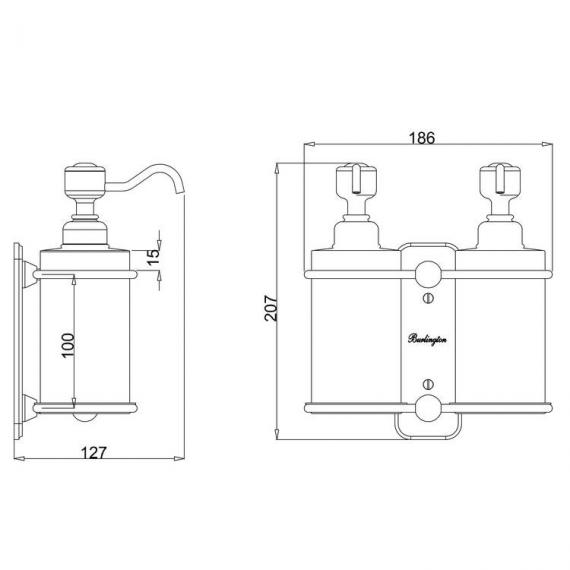 Burlington Double Soap Dispenser - Spec
