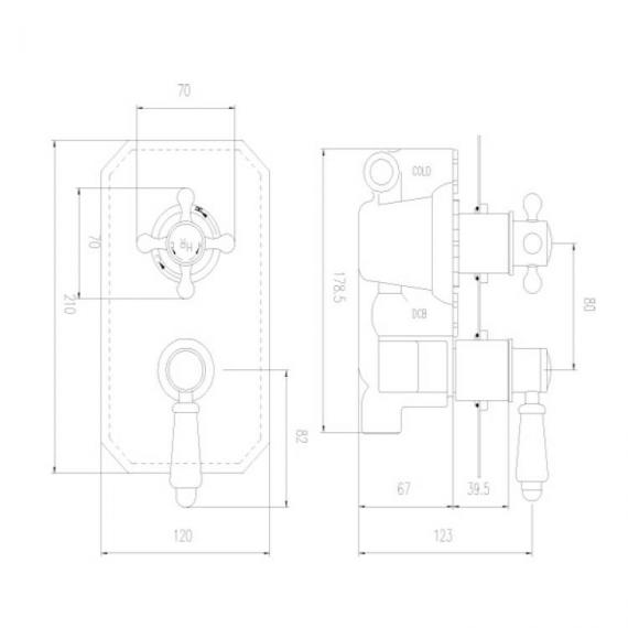 Hudson Reed Traditional Twin Thermostatic Concealed Shower Valve - Spec