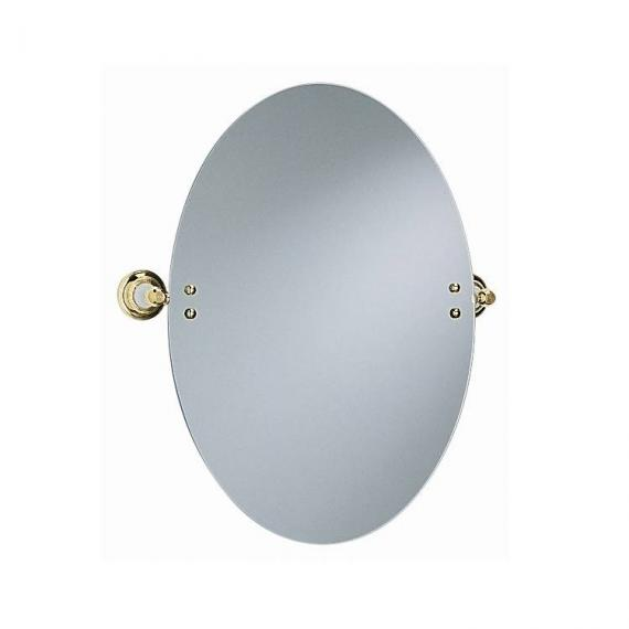 Heritage Vintage Gold Oval Swivel Mirror