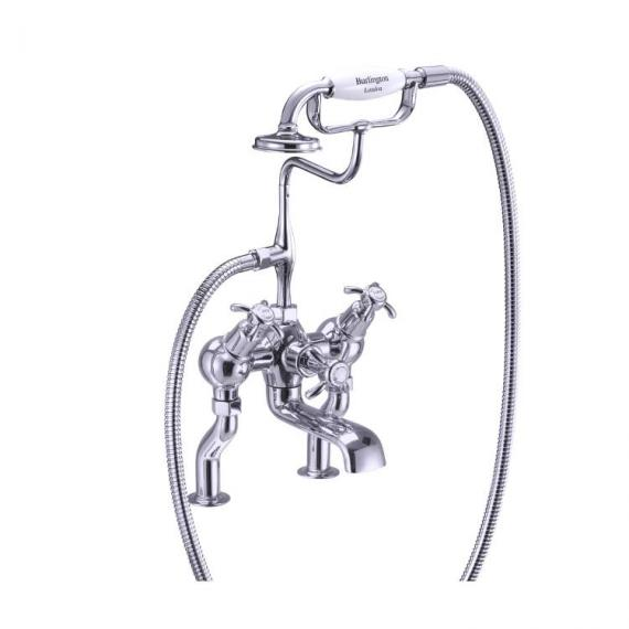 Burlington Anglesey Angled Deck Mounted Bath Shower Mixer - Image 2