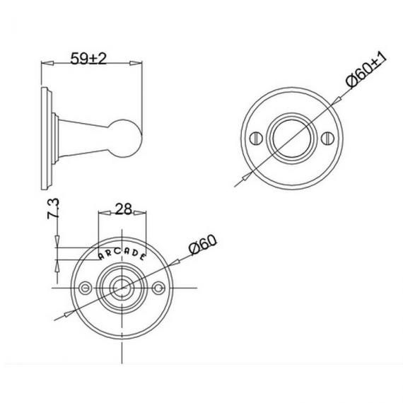 Arcade Chrome Single Robe Hook Specification