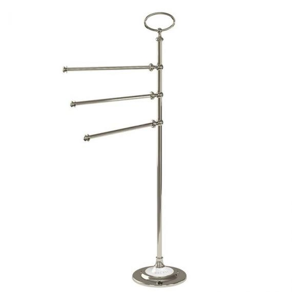 Arcade Nickel Triple Towel Rail Stand