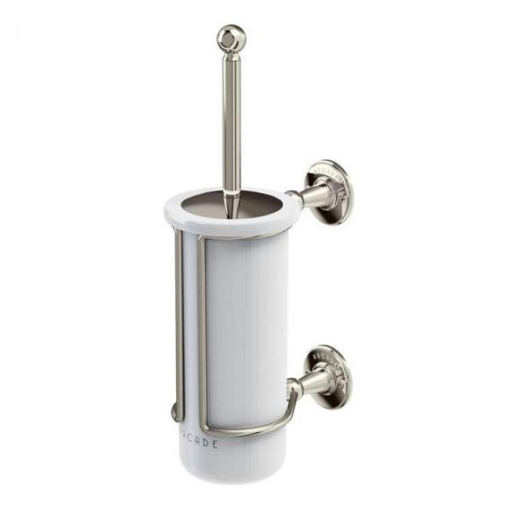 Arcade Nickel Toilet Brush Holder