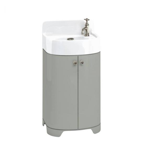 Arcade Dark Olive 500mm Floorstanding Vanity Unit & Basin