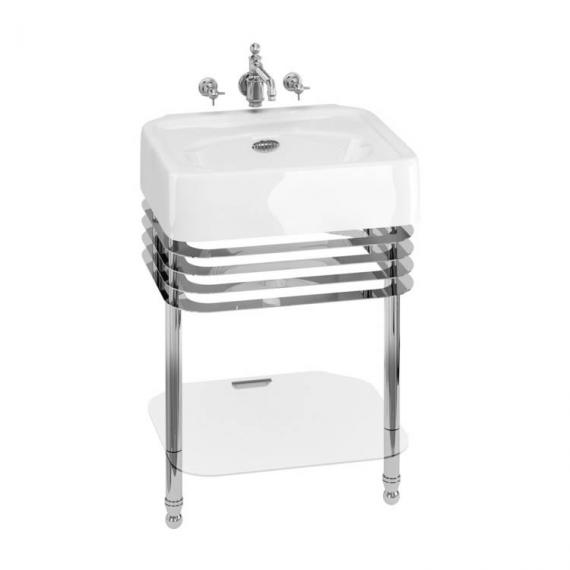 Arcade 600mm Basin With Chrome Wash Stand