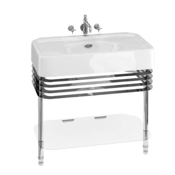 Arcade 900mm Basin With Chrome Wash Stand - 0 Tap Hole