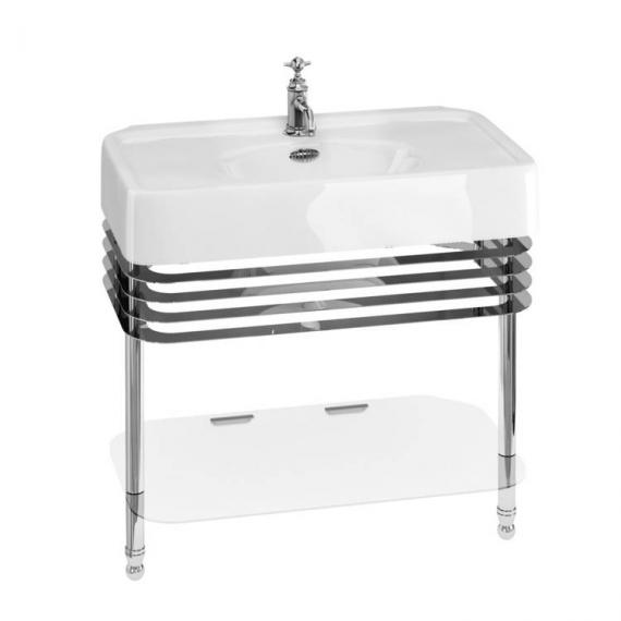 Arcade 900mm Basin With Chrome Wash Stand - 1 Tap Hole