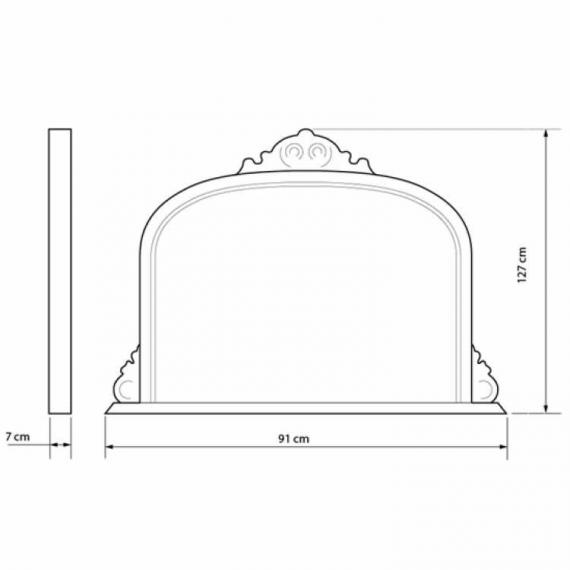 Heritage Archway Mirror Specification