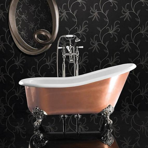 Ashton and Bentley Athena Metallic Freestanding Bath | Gloss Brass