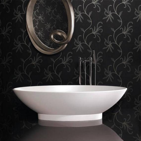 Ashton and Bentley Onis Freestanding Bath With Plinth | White Gloss