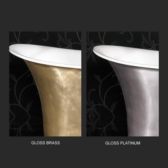 Ashton and Bentley Athena Metallic Freestanding Bath