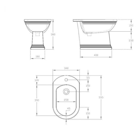 Imperial Astoria Deco Bidet Specification