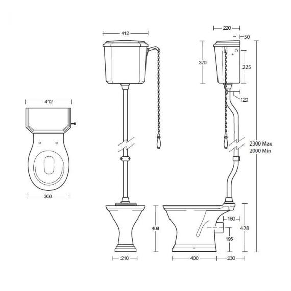 Imperial Astoria Deco High Level WC & Cistern Specification