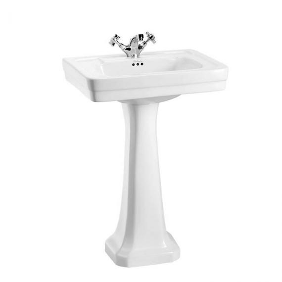 Burlington Contemporary Medium 58cm Basin, Pedestal
