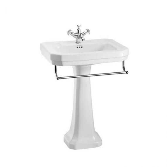 Burlington Victorian Large Regal 61cm Basin, Towel Rail & Pedestal