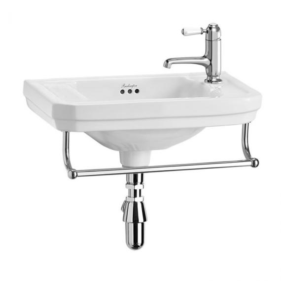 Burlington Victorian Wall Mounted Cloakroom Basin With Towel Rail Option