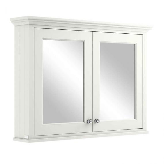 White 1050mm Mirror Wall Cabinet