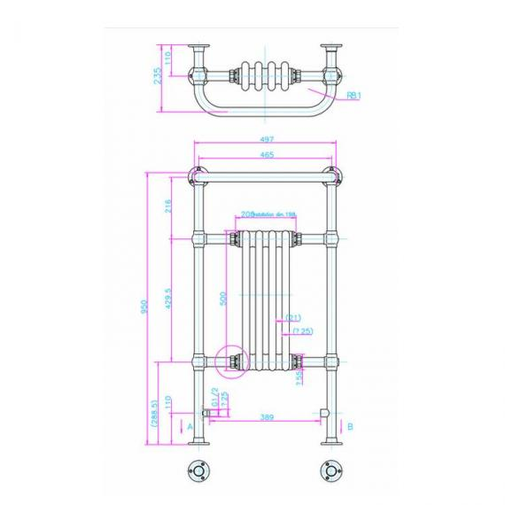 Arcade Bruton Nickel Radiator Specification
