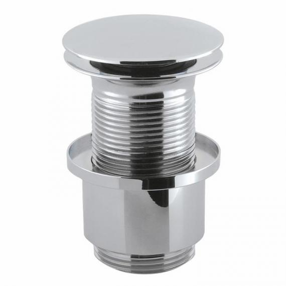 Crosswater Unslotted Chrome Click Clack Basin Waste