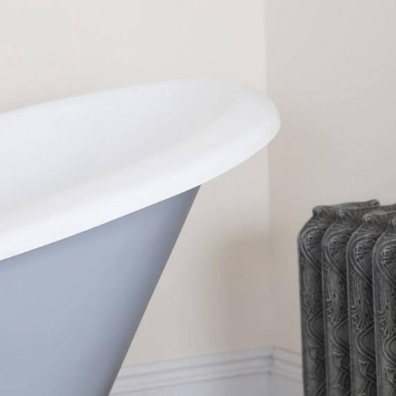 JIG Banburgh Small Double Ended Slipper Cast Iron Bath 1560 x 765mm with Feet - Detail