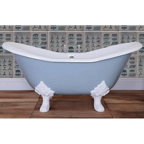 JIG Banburgh Small Double Ended Slipper Cast Iron Bath 1560 x 765mm with Feet