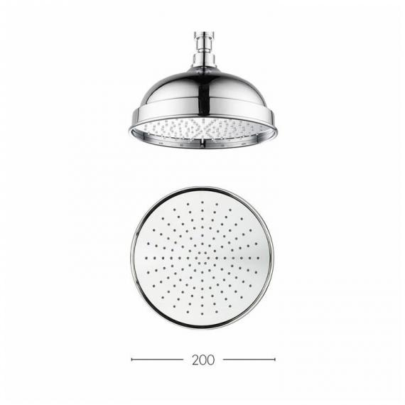 Crosswater Belgravia 200mm Easy Clean Fixed Shower Head Specification
