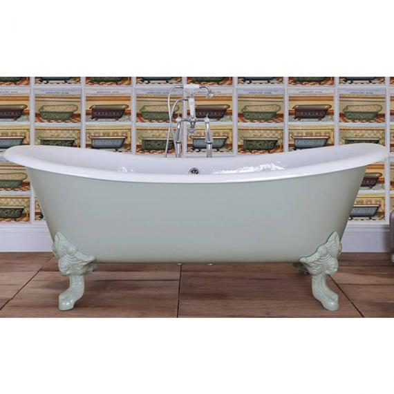 JIG Belvoir Double Ended Cast Iron Bath 1840 x 780mm with Feet