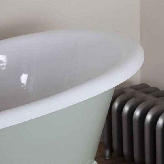 JIG Belvoir Double Ended Cast Iron Bath 1840 x 780mm with Feet - Detail
