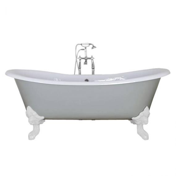 JIG Belvoir Double Ended Cast Iron Bath 1840 x 780mm with Feet  - Image 2