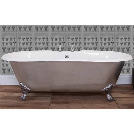 JIG Bisley Fully Polished Cast Iron Bath 1690 x 750mm with Feet