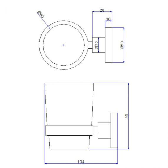Crosswater Central Tumbler Holder Specification