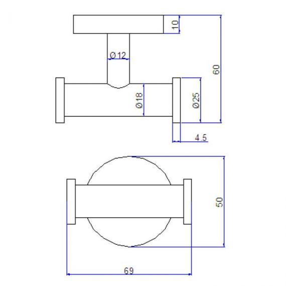 Crosswater Central Robe Hook Specification