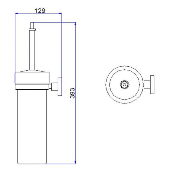 Crosswater Central Toilet Brush Holder Specification