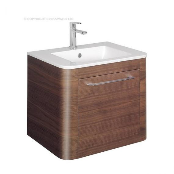 Bauhaus Celeste 600mm American Walnut Vanity Unit & Ceramic Basin Specification