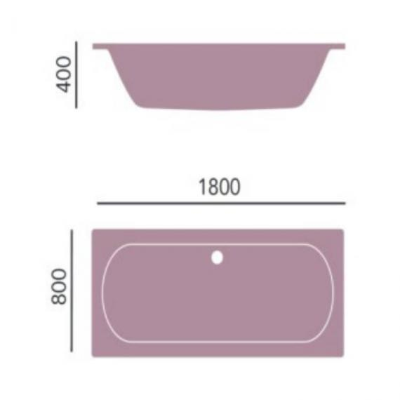 Heritage Claverton Double Ended Acrylic Bath - 1800 x 800mm Specification