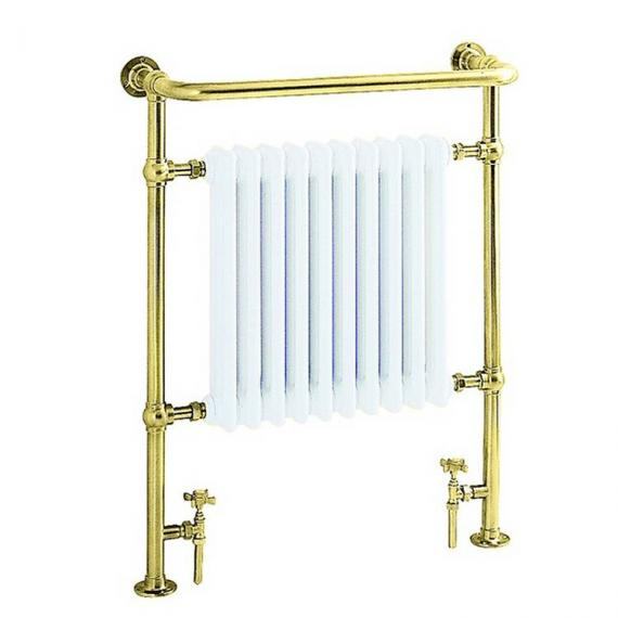 Heritage Clifton Antique Gold Heated Towel Rail
