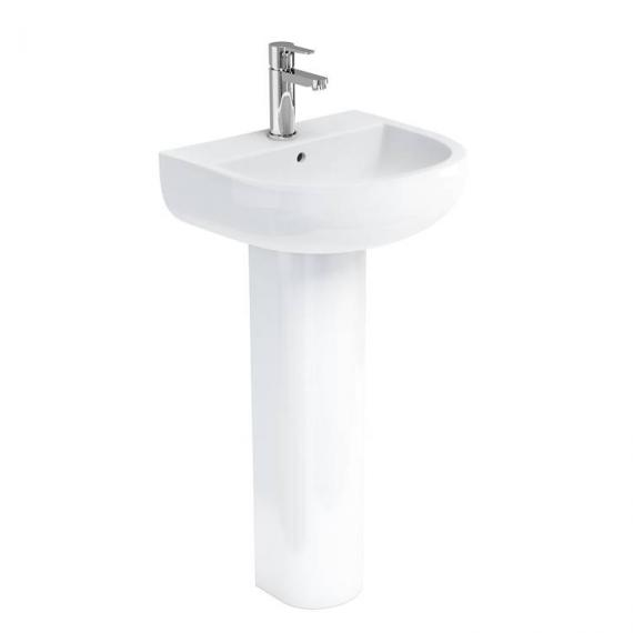 Britton Compact 450mm Basin & Round Fronted Pedestal