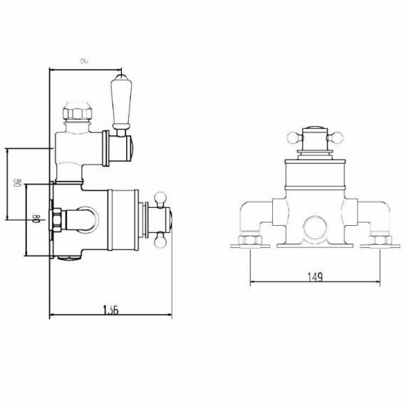 BC Designs Victrion Twin Exposed Shower Valve Specification